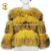 2017 Hot Sale Coats And Jackets Woman Jacket Real Raccoon Fur Coat