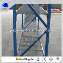 Shelving comercial das barras de vidro do metal das unidades decorativas do shelving da qualidade dos armazéns do armazenamento de Jracking