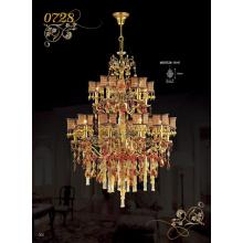 Colgantes decorativos de lujo de la lámpara del cristal del hotel (MD0728-10 + 5)