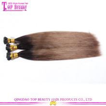 Nova chegada dica cabelo moda popular ombre dou gorjeta a extensão do cabelo para série 7a por atacado mais barato dar uma dica cabelo