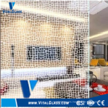 4-6mm claro flotar pintura de vidrio revestido de arte para la decoración