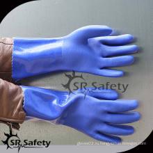 SRSAFETY Лучший более длинный процесс окунания перчаток зеленого пвх