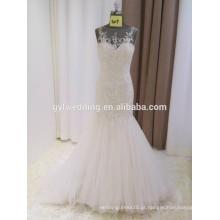 Sweetheart Backless Crystal Beadings Custom Made Formal Bridal Gowns Design Robe De Mariee Mermaid Wedding Dresses 2016 15017