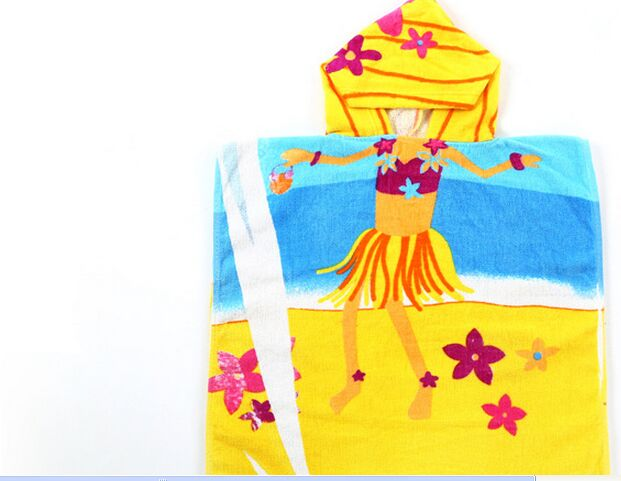 Kids printed poncho towel