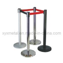 Metal Crowd Control Barrier Queue Post Management System Retráctil cinto Stanchion
