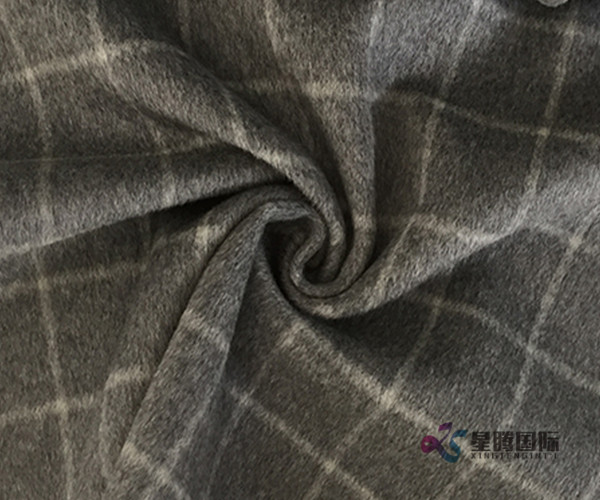 100% Wool Fabric Plaid