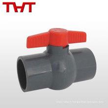 Valve de flotteur de mini-boule d'eau en plastique de pression moyenne de certificat