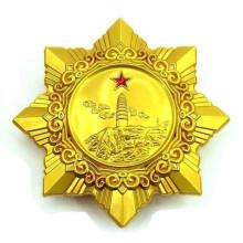 Diseño personalizado de la estrella del logotipo con la insignia (XDBG-245)