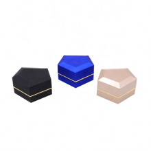 Fashion classic luxury customized jewelry boxes different sizes blue box led jewelry ring box empty