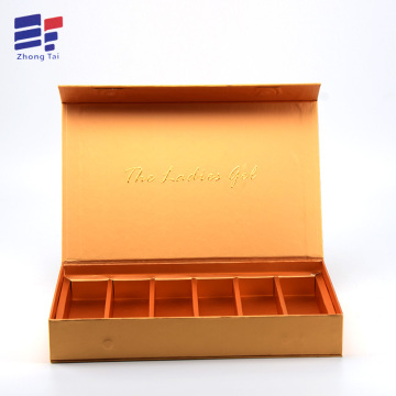 Hot sale for Craft Packing Paper Box Book shape gold  paper cosmetic packaging box export to India Importers