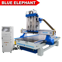 Blue Elephant High Efficiency Furniture Cabinet Design Multi-Spindles CNC Atc Wood Cutting Machine with Double Table