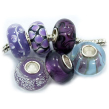 Murano Glass Charms com 925 Sterling Silver Core