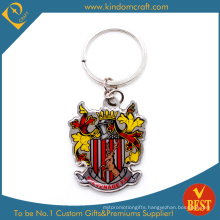 Custom Printed Steel Keyring with Castle Logo