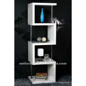 High gloss white finishing E1 MDFbook shelf