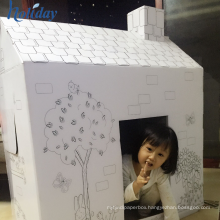 Factory Manufacture DIY Cardboard Paper Doll Play House,Wholesale Children Cardboard Playhouse