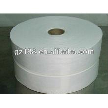 Lapidação cruzada 70% viscose e 30% poliéster spunlace não tecido para lenços umedecidos / máscaras faciais de 45 g / m²