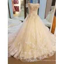 LS10045 Blingbling off shoulder corset lace dress designs women bridal wedding dresses