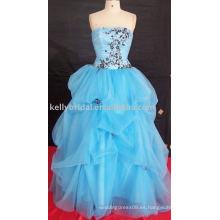 Vestido de noche formal del diseño encantador y más último o estilo llano y estilo cuadrado de la longitud vestido de noche sin mangas de las lanas yashmagh