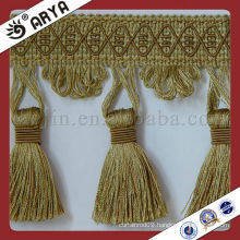 Fancy Woven Curtain Tassel and Beads Fabric Trims for curtain Tapestry and sofa ,cushion,Curtain Fringe for Textile Dec.