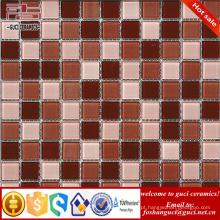 China fabricar 2017 Mixed cor Quadrada forma mosaico de vidro telhas