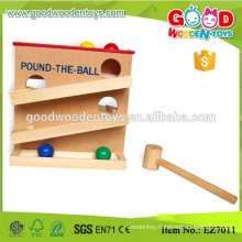 Children Play Pound And Roll Tower Wooden Pounding Toys