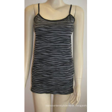seamless gallus tops leopard pattern camisoles