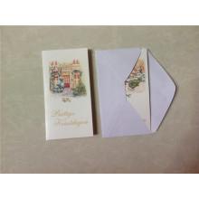 Cartes de voeux de Noël avec enveloppe / Carte de voeux de musique avec enveloppement