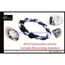 Rope Braided Power Band Energy Silicone Bracelet For Sports To Reduce Effect From Jetlag