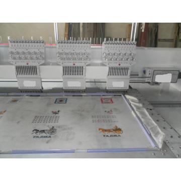6 têtes plates Machine à broder (surface de broderie de 400 * 680mm)