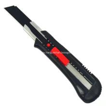 Cuchillo cortador para uso general de seguridad de plástico con cuchilla a presión de 18 mm