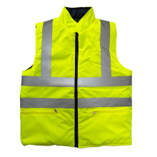 Cotton wadded reflective safety vest for winter