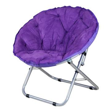 Fashionable Furniture Colorful Balcony Leisure Sun Lounger Sofa Round Moon Folding Chair
