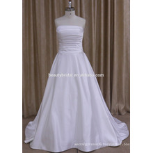 0809 elegant ruched stain wedding dress