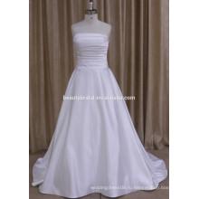 0809 элегантный ruched пятно свадебное платье
