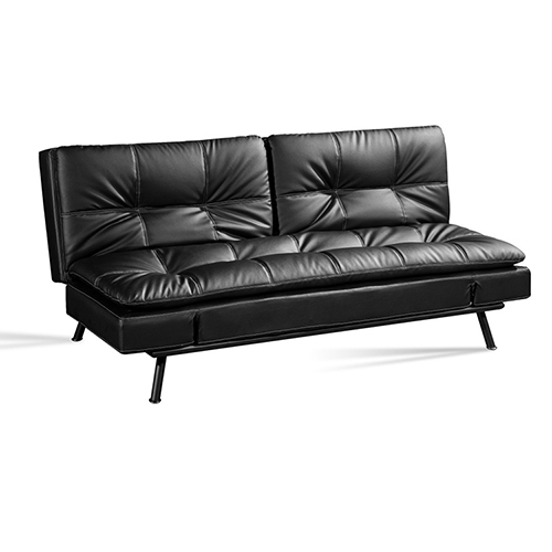 Folding Leather Sofa Bed