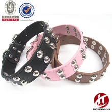 Wholesale leather dog collar with studded rivet