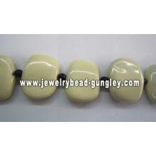 25x30mm bela cerâmica quadrada grânulos para a fabricação de jóias