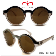 Plastic Ladies Round Metal Eyebrown Sunglasses (WSP508316)