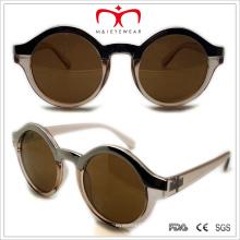 Пластиковые женские круглые металлические глазные солнцезащитные очки (WSP508316)