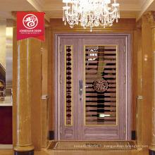 Porte principale portes double entrée porte double porte en acier