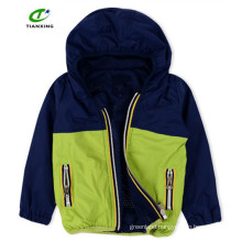 Practical spring zip up nice hooded kid jacket with mesh lining for boys