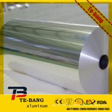 Papel de aluminio del cigarrillo del oro y de la plata
