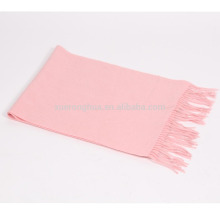 blend 50% cashmere 50% wool medium plain baby pink scarf