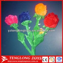Beautiful flower toy lifelike plush flower for decoration