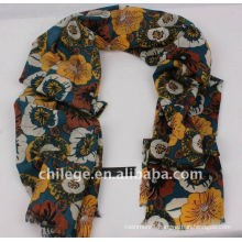 vivid color wool print poncho scarves shawls neckwear