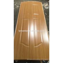 Pele de madeira da porta principal do folheado do banheiro decorativo do projeto da porta da melamina