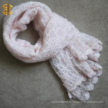 Inverno e outono cachecol liso feito à mão
