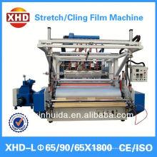 Pe tres capas co-extrusión máquina de película de estiramiento