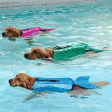 Fato de roupa de banho de mar-empregada doméstica de traje de estimação de marinheiro de sereia de jaqueta de vida de cão