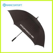 Alta calidad a prueba de viento Auto Golf recto abierto paraguas